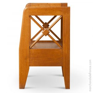 side table attributed to jacques adnet
