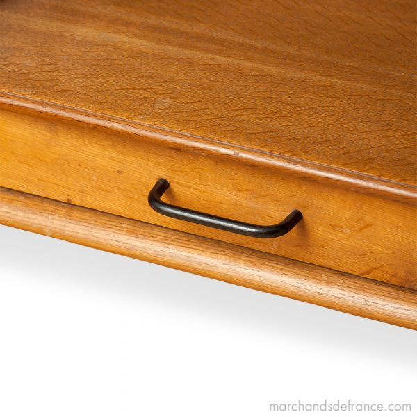 side table attributed to jacques adnet drawer